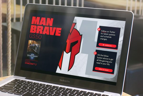 ManBrave Twitch Branding